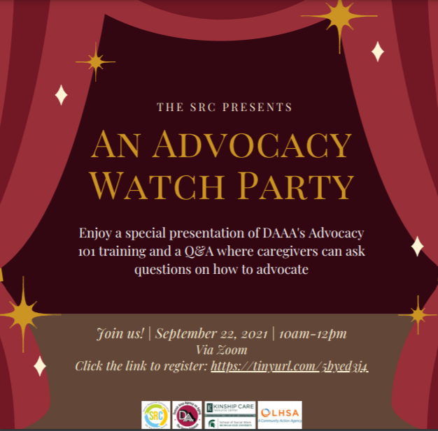Join us at the caregiving advocacy watch party